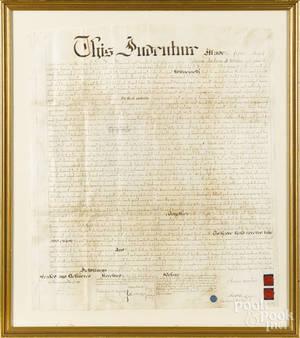 Philadelphia ink on vellum indenture