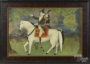 Framed print of Washington and Lafayette at Yorktown