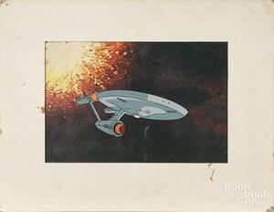 Star Trek cel from the animated program