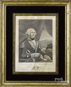 Engraved portrait of George Washington