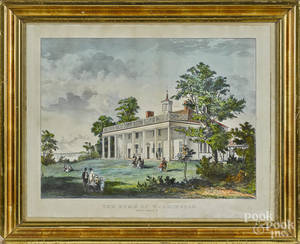 Currier and Ives color lithograph