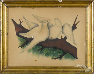 Watercolor of two doves