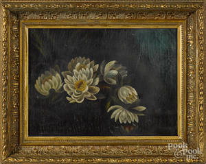 American oil on canvas floral still life