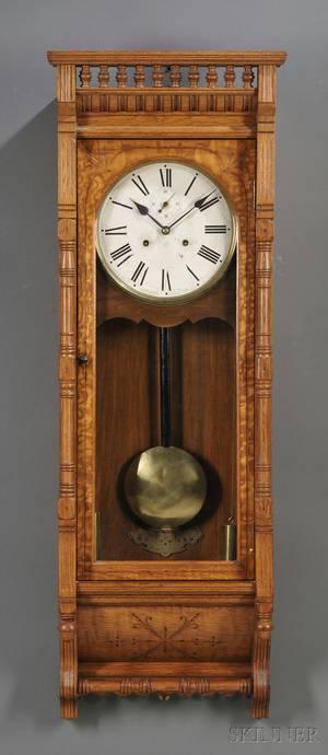 Ansonia Santa Fe Oak Wall Clock