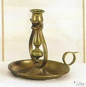 Brass ships candlestick