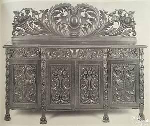 American ornately carved oak dining room suite ca 1880