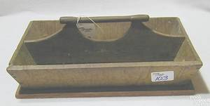 New England tiger maple cutlery tray ca 1860