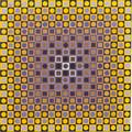 Victor Vasarely FrenchHungarian 19061997 Two Compositions in Gold