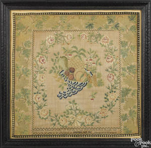 Philadelphia silk on linen sampler dated
