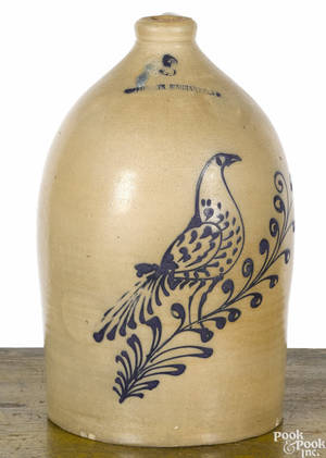 New York threegallon stoneware jug 19th c