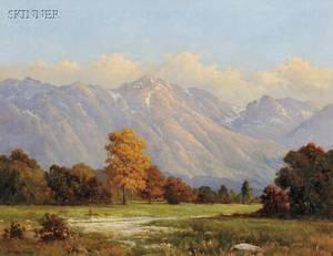 Robert William Wood American 18891979 Mountains