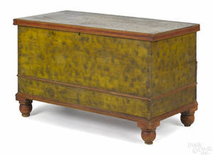 Pennsylvania painted pine blanket chest ca 1830