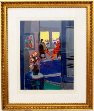 Interior Scene By Marcel Mouly
