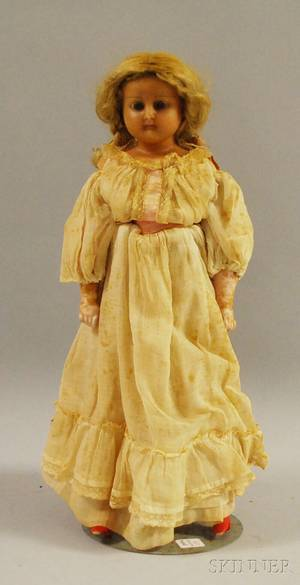 Wax Shoulder Head Doll