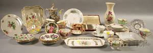 Fortyone Pieces of Assorted European Decorated Porcelain Tea and Tableware