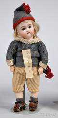 Small Early Kestner Closed Mouth Bisque Head Doll