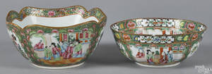 Two Chinese export porcelain rose medallion bowls 19th c