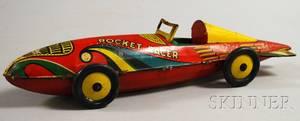 Marx Windup Lithographed Tin Rocket Racer
