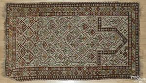 Caucasian prayer rug ca 1900