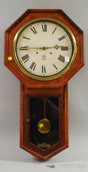 Drop Octagonal Wall Clock by Waterbury Clock Co