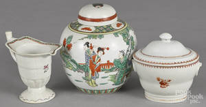 Chinese export porcelain helmet creamer