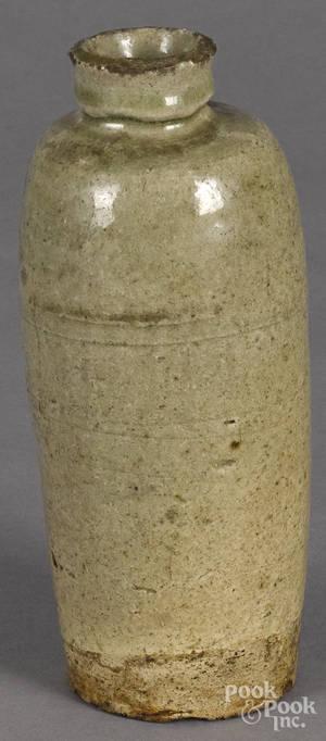 Crackle glaze pottery bottle