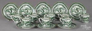 Twenty export porcelain cups and saucers