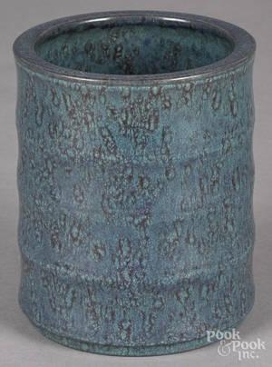 Chinese robins egg blue porcelain brush pot