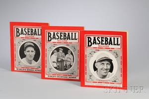 Twentysix 193438 Issues of Baseball Magazine