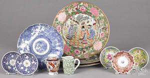 Eleven pieces of export porcelain
