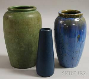 Three American Art Pottery Vases