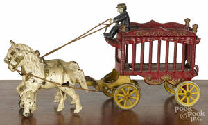 Cast iron horse drawn  Overland Circus  wagon