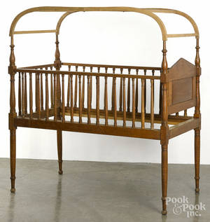Tiger maple crib