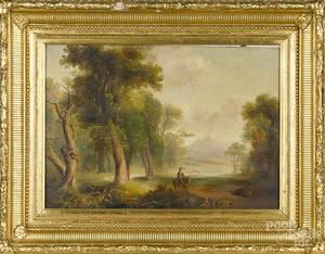 Oil on panel landscape