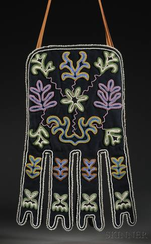 Tlingit Beaded Cloth Octopus Bag