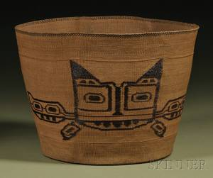 Tlingit Twined Pictorial Basket