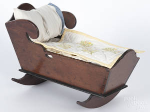 Pennsylvania cherry doll cradle