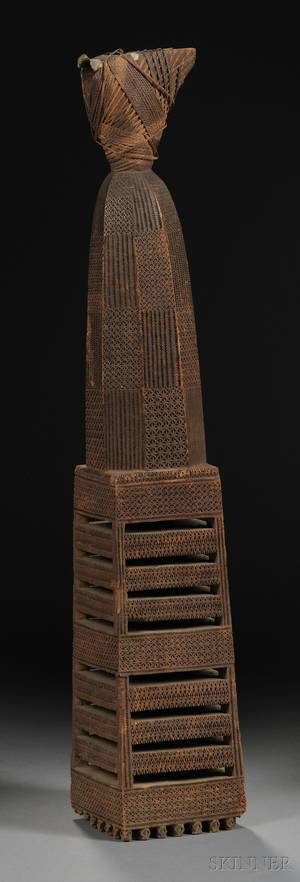 Austral Island Carved Wood Ceremonial Adze