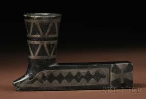 Chippewa Leadinlaid Black Stone Pipe Bowl
