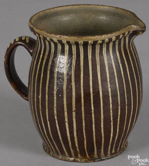 Redware pitcher 19th c