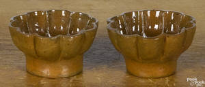 Pair of John Bell small redware molds 19th c