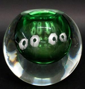 Italian Sommerso Style Art Glass Ball Vase