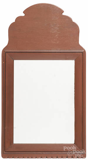Pair of contemporary painted mirrors