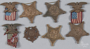 Three GAR Civil War badges late 19th c