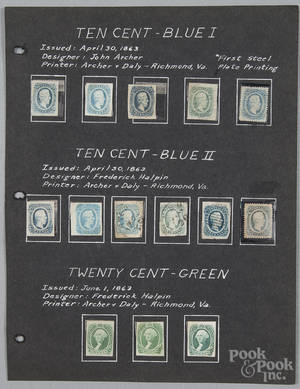 Confederate Civil War stamps 19th c