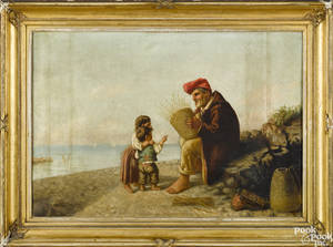 Continental oil on canvas coastal scene