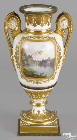Sevres ormolu mounted porcelain urn 19th c