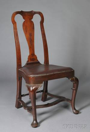 Queen Anne Carved Walnut Side Chair