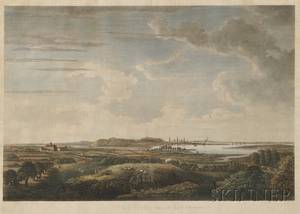 J F W Des Barres Esquire publisher 18th19th Century A View of Boston taken on the Road to Dorchester