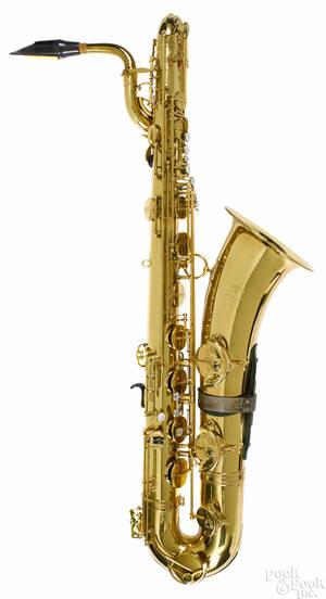 Selmer brass baritone saxophone ca 1983